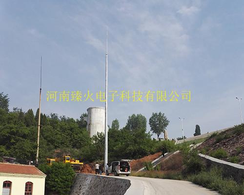 GH环形钢管杆避雷针安装